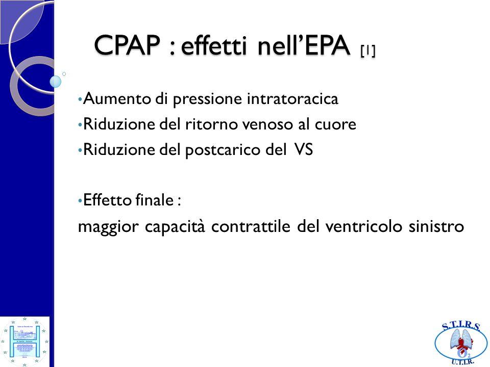 CPAP : effetti nell'EPA [1]